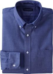 Blue Traditional Fit No Iron Oxford Shirt