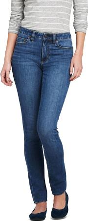 Blue Womens Mid Rise Stretch Slim Jeans