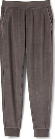Brown Womens Soft Leisure Velour Joggers