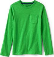Green Boys Long Sleeve T Shirt With Pocket