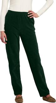 Green Stretch Knit Cord Trousers