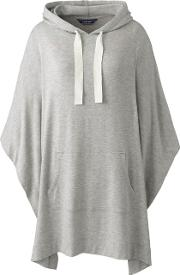 Grey French Terry Hooded Poncho