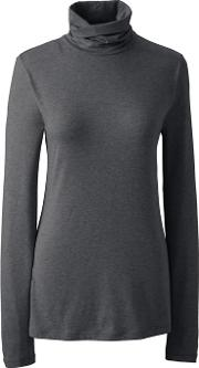 Grey Plus Cottonmodal Roll Neck
