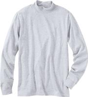 Grey Super Tee Polo Neck