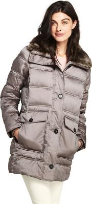 Grey Thermoplume Insulated Coat
