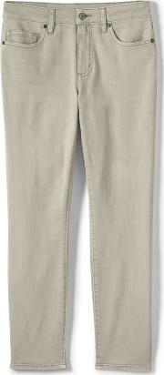 Grey Womens Mid Rise Coloured Ankle Jeans