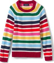Multi Girls Striped Jumper
