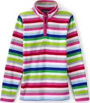 Multicoloured Girls Thermacheck 100 Printed Fleece Half Zip Pullover