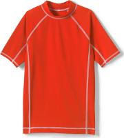 Orange Boys Short Sleeve Rash Guard Top