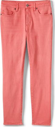 Orange Womens Mid Rise Coloured Ankle Jeans