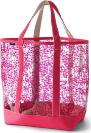 Pink Clear Tote Bag