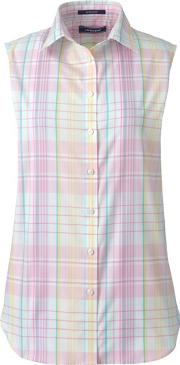 Pink Supima Non Iron Sleeveless Shirt