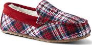 Red Flannel Moccasin Slippers