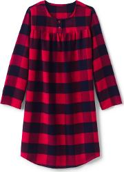 Red Girls Flannel Nightgown