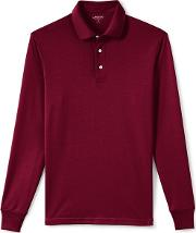 Red Long Sleeve Supima Rugby Shirt