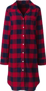 Red Petite Flannel Patterned Nightdress