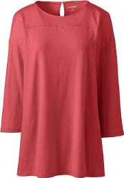 Red Petite Lightweight Cotton & Modal Tunic Top