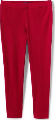 Red Slim Leg Stretch Trousers