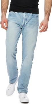 Levis Big And Tall Blue Light Wash 501  Straight Jeans