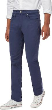 Levis Big And Tall Navy 511  twill Slim Jeans
