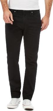 Levis Black 502 Tapered Jeans