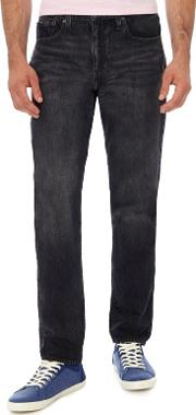 Levis Black Mid Wash 502  Tapered Jeans