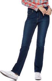 Levis Blue 314 Shaping Straight Jeans