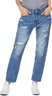 Levis Blue 501 Tapered Leg Jeans