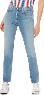 Levis Blue Light Wash 314 Shaping Straight Jeans