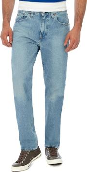Levis Blue Light Wash 502  Tapered Jeans