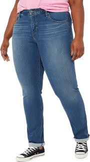 Levis Blue Mid Wash 314 Plus Size Shaping Straight Jeans