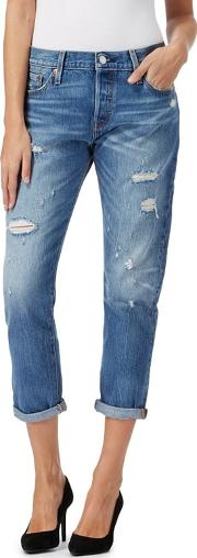 Levis Light Blue 501 Straight Leg Jeans