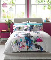 Multicoloured watercolour Lily Bedding Set