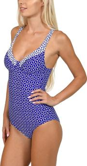 Blue delos Underwired Swimsuit