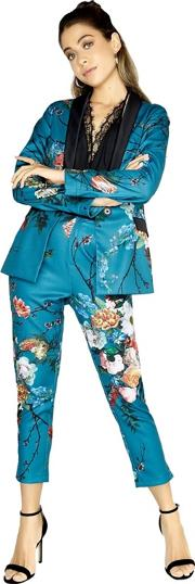 Amelie Vintage Floral Tailored Trouser Co Ord