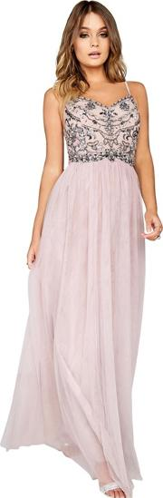 Mink Cami Mesh Maxi Dress