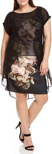 Floral Printed Overlay Dress