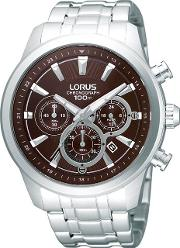 Men's Stainless Steel Chronograph Watch Rt359ax9