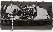 Black Patent cristaler Handbags