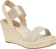 Gold tico Wedge Sandals