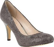 Grey Floral Print clancy High Heel Courts