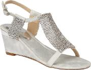Silver Chainmail klaudia Wedge Sandals