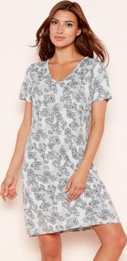 62d0f12177 Shop Floral Printed Nightgown for Women - Obsessory