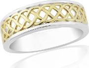 9ct Gold Plated On Silver Ladies Dress Ring