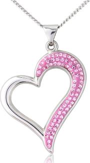 Silver And Pink Crystal Pendant