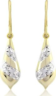 Silver & Yellow Rhodium Gold Plated Earrings