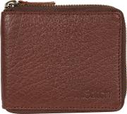 Brown wakeman Zip Round Leather Wallet