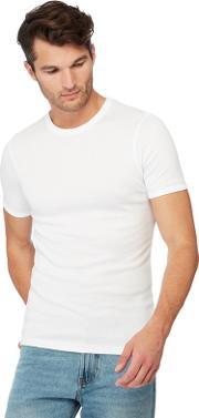 New England 2 Pack White Brushed Thermal T Shirts