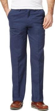 New England Big And Tall Dark Blue Tailored Chinos