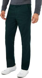 New England Big And Tall Dark Green Tailored Fit Chinos